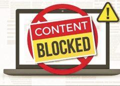 Bloqueo de una página de Internet está autorizado en casos excepcionales.